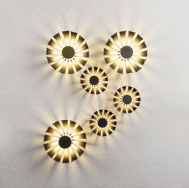 Hot Sale Wandlamp Modern Simple Personality Designer Tv Background Wall Lights Aisle Iron Kaleidoscope Lamp Free Shipping