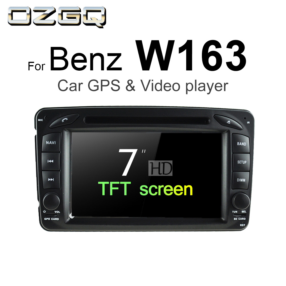 OZGQ Android 7.1 Car DVD Player For Mercedes-Benz W163 M-Class ML55 ML230 ML270 ML320 ML350 ML400 ML430 ML500 Auto GPS BT Stereo