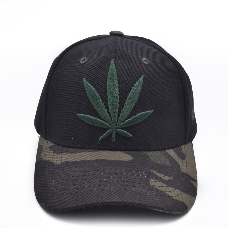 2017 New Fashion Embroidery Maple Leaf Cap Weed Snapback Hats For Men Women Cotton Swag Hip Hop Fitted Baseball Caps 2017 new fashion women men knitting beanie hip hop autumn winter warm caps unisex 9 colors hats for women feminino skullies
