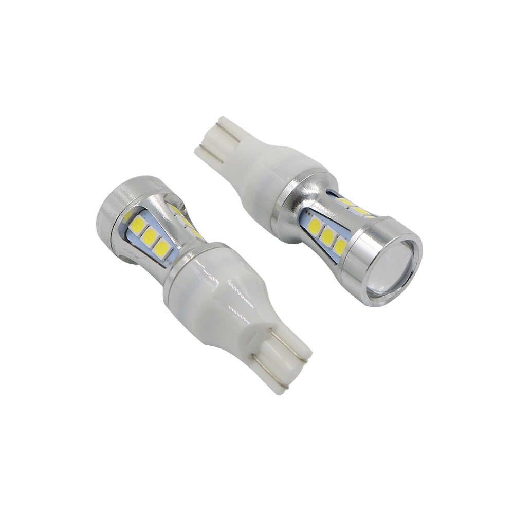 YSY, 50 шт в наборе, T10 15-SMD 3030 интерьер светодиодный DRL 194 W5W лампы для автомобилей внешнее Авто Автомобильные стояночные огни 15-SMD 3030 белый