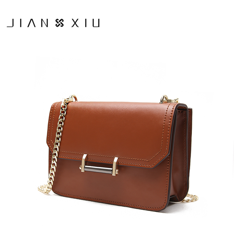 JIANXIU Women Messenger Bags Split Leather Bag Bolsa Bolsos Mujer Sac Tassen Bolsas Feminina Shoulder Crossbody Retro Small Bag fashion matte retro women bags cow split leather bags women shoulder bag chain messenger bags