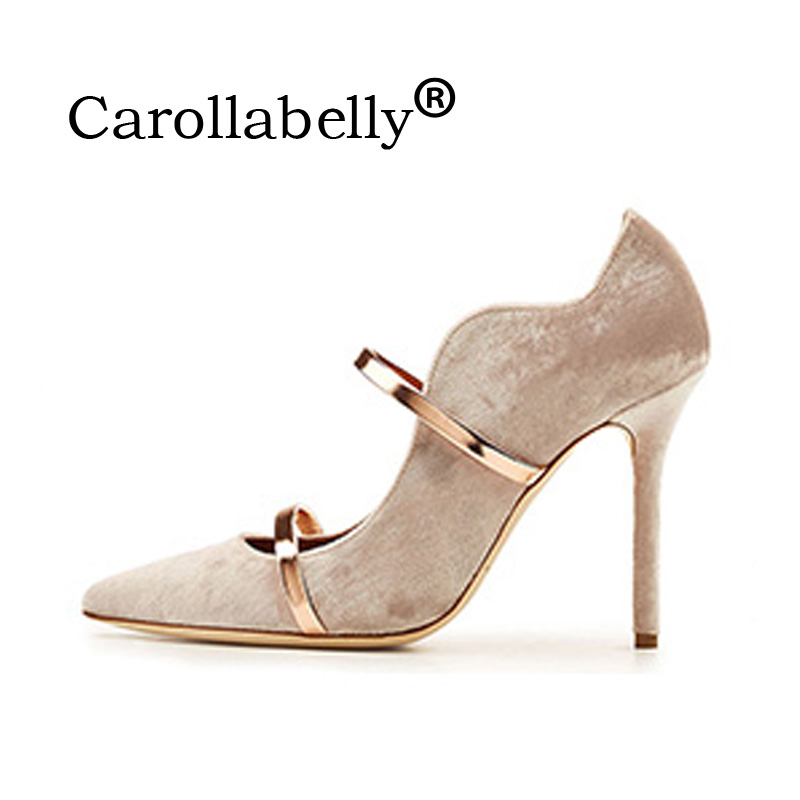 Carollabelly Brand Sexy Women Pumps Straps Pointed Toe 10 CM High Heels Wedding Dress Shoes Woman Stiletto Gladiator Pumps sexy pointed toe high heels women pumps shoes new spring brand design ladies wedding shoes summer dress pumps size 35 42 302 1pa