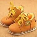 Nueva Llegada 2016 Niños de La Manera zapatos Martin botas Otoño Niñas zapatos Niños botines Pisos botas de Nieve de Invierno