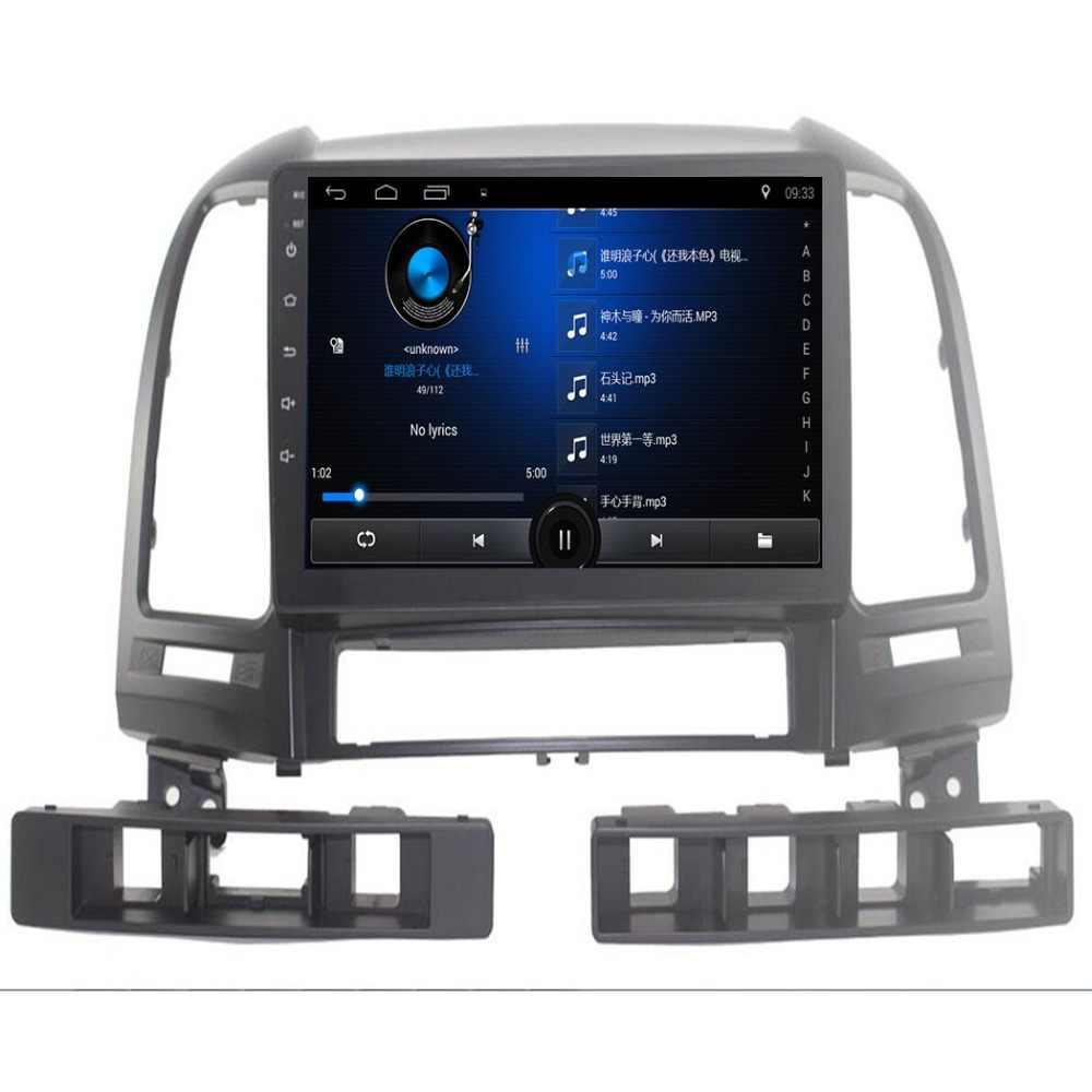 "9 ""Quadcore Android 8.1 Auto radio voor Hyundai Santa Fe 2006-2012 auto dvd-speler GPS navigatie auto multimedia 3g WIFI OBD DVR"