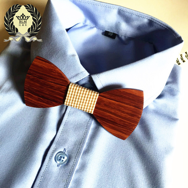 Bekleidung Zubehör Männer Handgemachte Holz Fliege Ehe Hartholz Bogen Krawatten Schmetterling Krawatte Fliege
