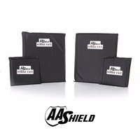 AA щит Bulletproof мягкая Броня Панель доспех вставки плиты арамидное ядро NIJ Lvl IIIA и HG2 10X12 #0 (2) 6X6 (2) комплект