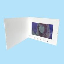 Быстрая бесплатная доставка видео брошюра с 7 дюймовым экраном HD Разрешение Большой звуковой сигнал ТВ на открытке для рекламы бизнес Лидер продаж