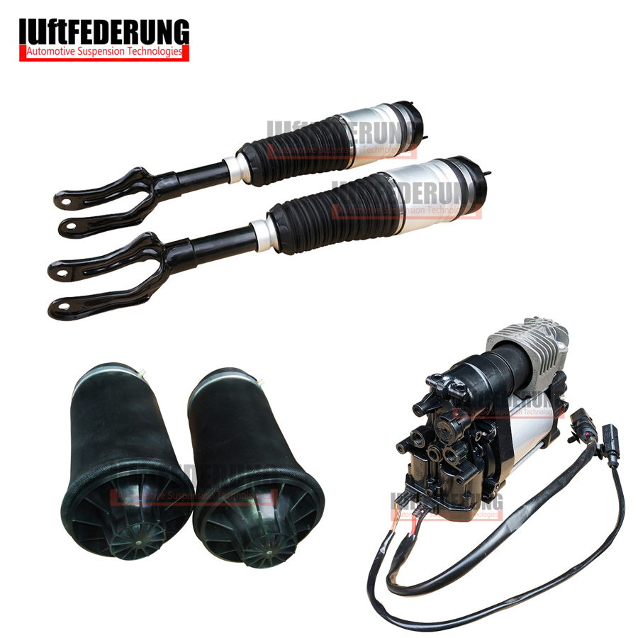 Luftfederung 1Set Front Air Spring Air Suspension Compressor Rear AirBag Fit Jeep Grand Cherokee 68059904AD 68029912AE 68204387