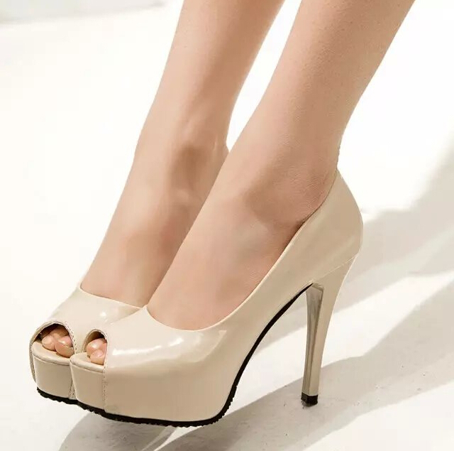 Aliexpress.com : Buy Nude color genuine leather women&39s pump shoes