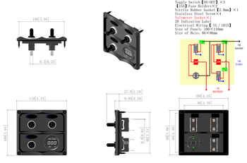 Led Voltmeter Volt Gauge Battery Tester Sockets 3 Gang Way Toggle Switch Panel 15A Fuse for Boat Truck Camper Yacht Marine