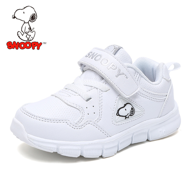 d51174aa15 2018 Snoopy Brand Kids Shoes Anti-Slippery Breathable Boys Casual White  Sneaker Hook   Loop Girls Children s Tennis for Fashion