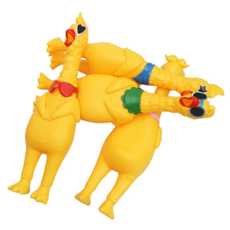Image 3 - 33 см питомцы игрушечные собаки Кричащие курицы сжимают звук игрушка для собак супер прочный и смешной скрипучий желтый резиновый курица собака жевательная игрушка-in Игрушки-эспандеры from Игрушки и хобби on AliExpress