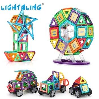 Diseño magnético ligero tamaño grande 34/68/89 piezas bloques de construcción 3D DIY modelos juguete educativo para bebé regalo de Cumpleaños