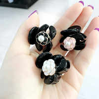 Korean Girl Simple Mini Small Hair Pins Floral Camellia Imitation Pearl Hair Clips for Women Fashion Gripper Hair Accessories