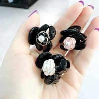Korean Girl Simple Mini Small Hair Pins Floral Camellia Imitation Pearl Hair Clips for Women Fashion Gripper Hair Accessories