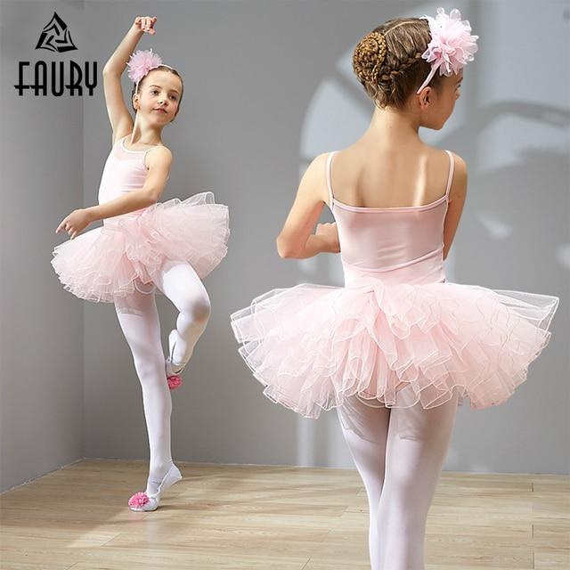 96b183583b Professional Girls Ballet Tutu Dance Dress Children Cotton Ballerina  Costume Kids Ballet Dancewear Dance Dress High Quality