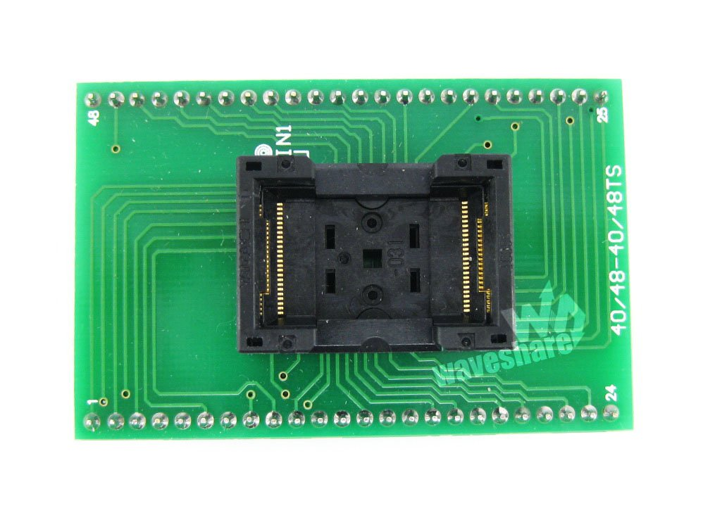 Parts TSOP48 TO DIP48 (A) TSSOP48 Yamaichi IC Test Socket Programming Adapter 0.5mm Pitch