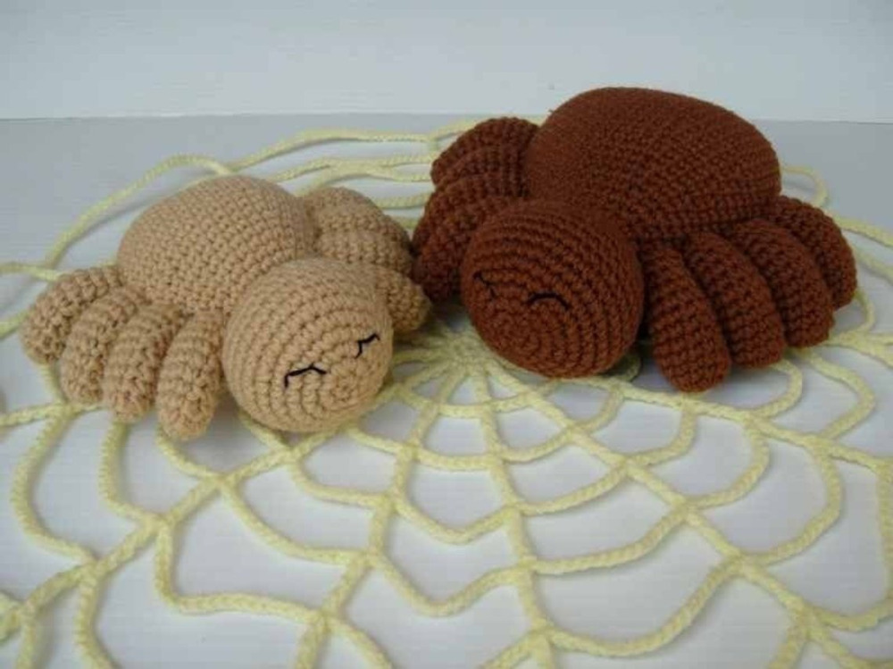 Crochet Toys  Amigurumi Rattle  Halloween Spider    Model Number W15798