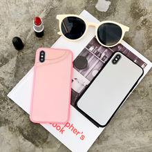 Black Pink Mirror Case For iPhone 7 Plus 8 Plus 6 6s Plus Back Cover Silicone Soft Phone Case For iPhone XS MAX XR XS X Capa hat prince protective silicone soft back case for 4 7 iphone 6 pink black