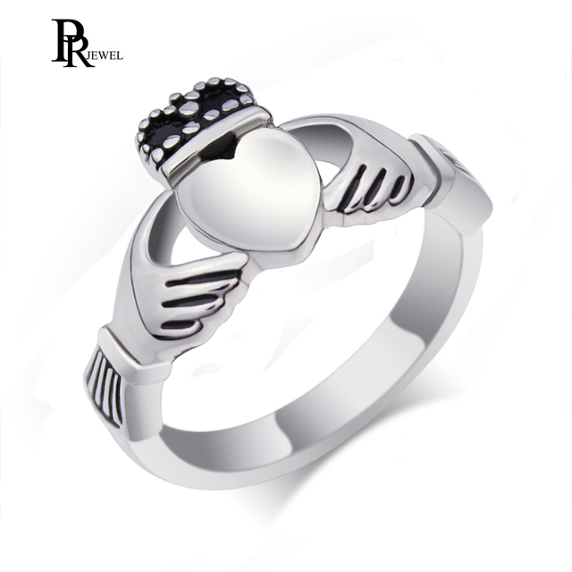 Claddagh Ring Stainless Steel Heart Wedding Band Made in Ireland