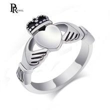 Claddagh кольцо из нержавеющей стали Сердце Обручальное сделано