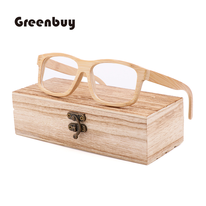 New Fashion Myopia Optical Glasses Frame Handmade Flat Light Bamboo Wood Glasses Frame Bamboo Wood Glasses Frame Men's And Women