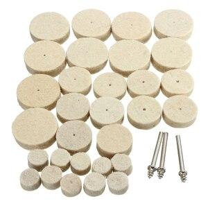 Image 2 - 33Pcs Soft Felt Polishing Buffing Wheel Mixed Accessory for Rotary Tool