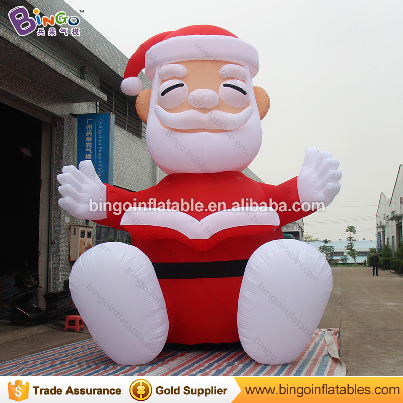 5M giant Inflatable sitting Santa Claus with a book for Christmas party decoration Father Christmas toys for advertising toys babar and father christmas