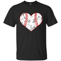 New 2018 Fashion Men S Baseballer Heart T Shirt Gift For Softball Mom Or Dad Team