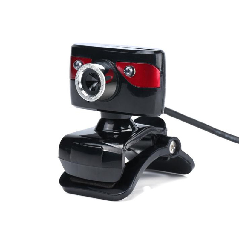 web camera with mic for computer LED lights Webcam HD 12 Megapixels Camera Rotating Stand for Computer PC webcam usb x3067