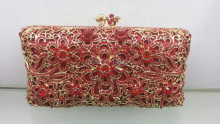 Free shipping A15 5 red color fashion top crystal stones ring clutches bags for ladies nice