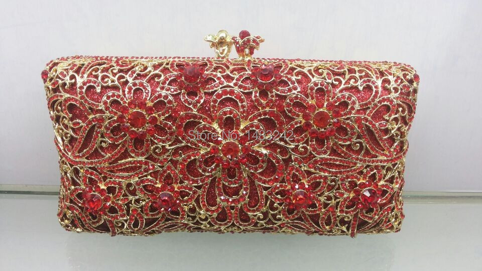 Free shipping A15 5 red color fashion top crystal stones ring font b clutches b font