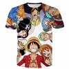 New Fashion Men Women Summer Casual Tee Shirts One Piece Characters 3D T Shirt Anime Luffy