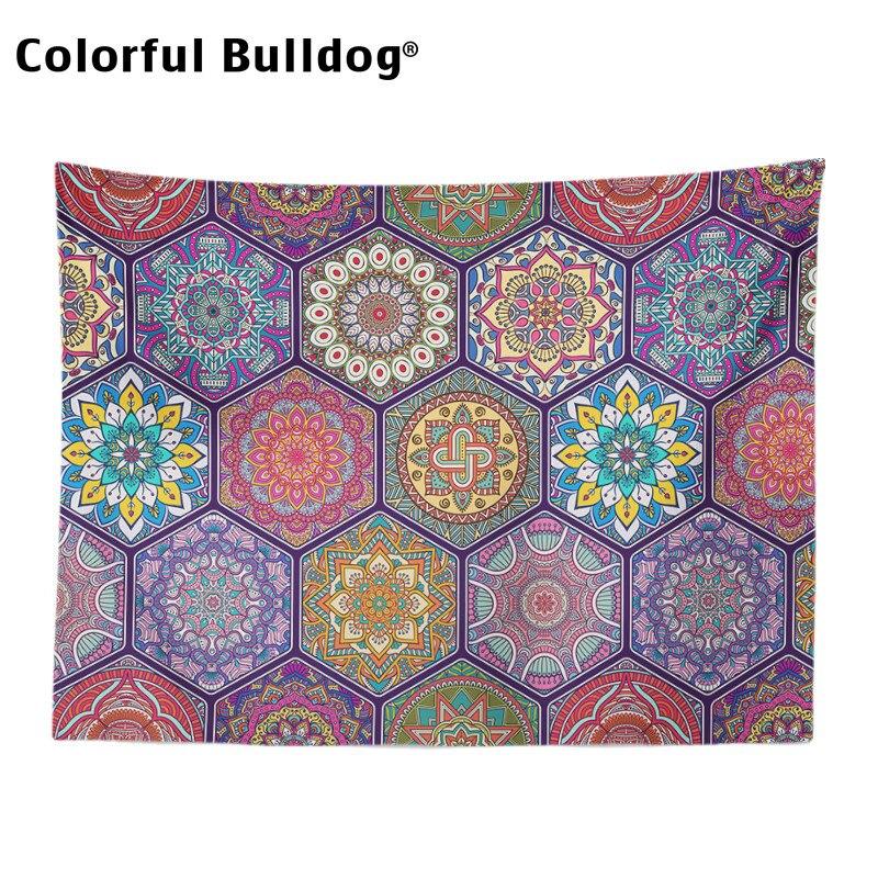 Image 3 - Богемный Гобелен Мандала Рождество геометрический шеврон  марокканский клетчатый зигзаг настенный Декор для дома одеяло фермерский  домГобелен