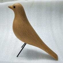 Decoración Para el hogar de pájaros, casa de madera de haya, decoración para el hogar, arte, regalo de cumpleaños, mascota, Pájaro de madera