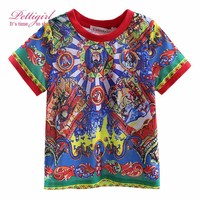 Cutestyles New Arrival Boys T-Shirt Pattern Print Child Tops Boy Clothing BT90315-10L