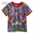 Pettigirl 2017 New Arrival Summer Boys Short Sleeves T-Shirt Pattern Print Boy Clothes For Kids Children Clothing BT90315-10L