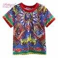 Pettigirl 2017 chegada nova meninos verão mangas curtas t-shirt padrão de impressão menino roupas para crianças vestuário crianças bt90315-10l