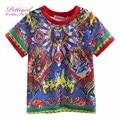 Pettigirl 2017 nueva llegada muchachos del verano patrón de impresión de ropa de niño de manga corta t-shirt para niños ropa para niños bt90315-10l