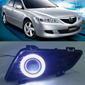 Exact-Fit Super COB Nevoeiro Anjo Luz Dos Olhos Bumper Lente Do Projetor Para Mazda 6 2003-2005