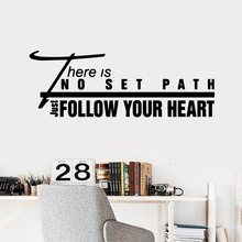 Diy Follow Your Heart Waterproof Wall Stickers Home Decor For Living Room Kids Mural Custom
