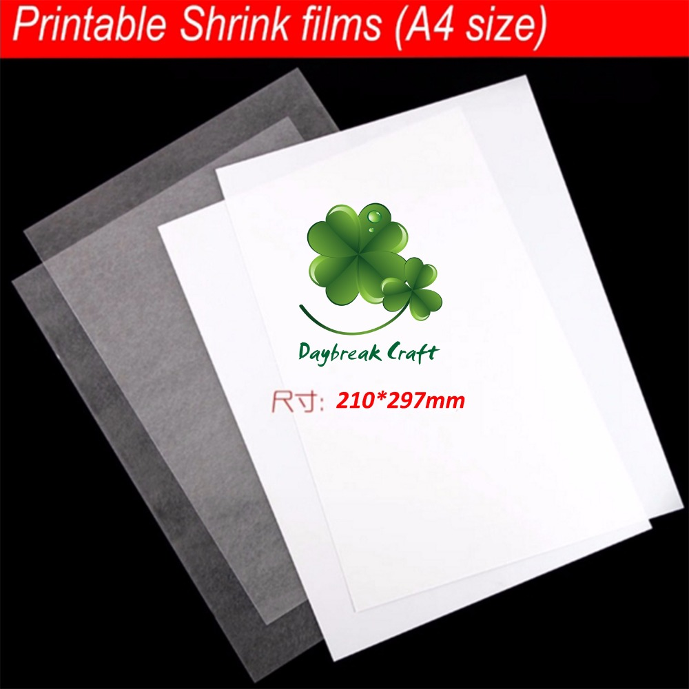 pack of 50 21 29 7cm A4 paper Shrinks film Plastic Sheets printable suit for