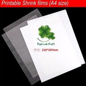 (Zestaw 50) 21*29.7 cm A4 papieru kurczy się film arkusze z tworzyw sztucznych do druku garnitur do drukarek atramentowych