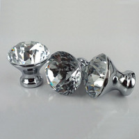 New 10pcs 25mm K9 Crystal Cabinet Knobs Furniture Hardware Drawer Handles Wardrobe Pulls Cupboard Shoes Box