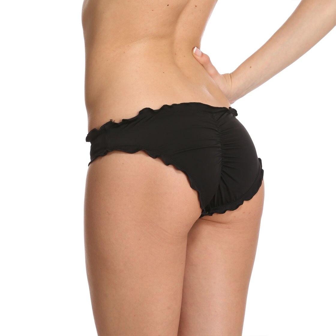 Sexy Women Bikini bottom Lace Elastic High Waist Cheeky Black  Brazilian Bikini Low Waist Bottoms Mini Plus Size  Summer secret 1
