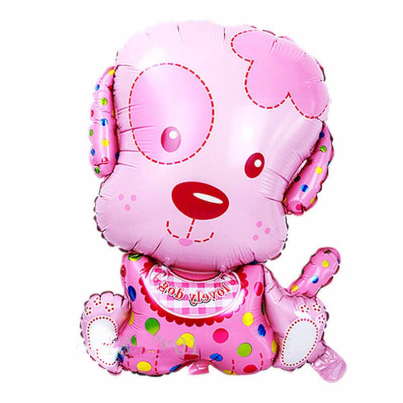 かわいい犬アルミ箔風船子供のおもちゃハッピー誕生日パーティーの装飾子供子供 ballonen 漫画 balony