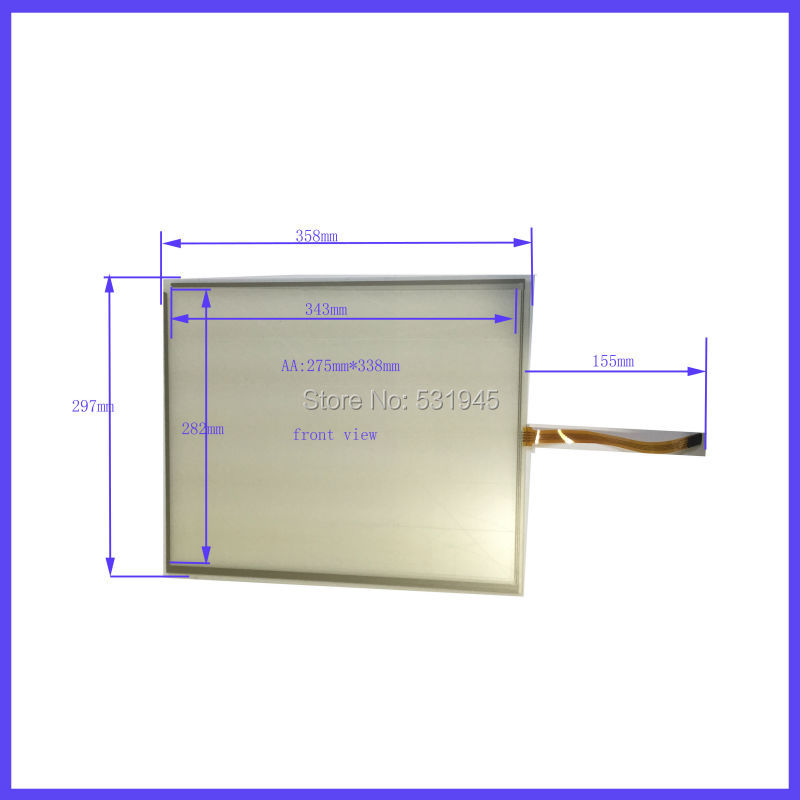 ZhiYuSun 358mm*297mm 17 Inch Touch Screen panels 4 wire resistive USB touch panel overlay kit  Free Shipping  358*297 zhiyusun new 10 4 inch touch screen 239 189 for industry applications 239mm 189mm 8 lins 47f8104025 r13 commercial use