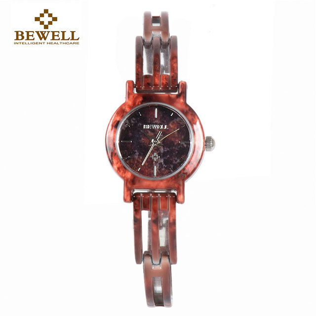 BEWELL Women Jewel Jade Watches Ladies Gem Bracelet Watch Gril Small Dial Light