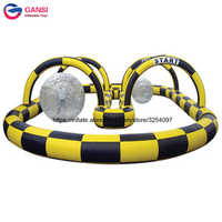 Portable outdoor kart racing trace inflatables,inflatable go karts race track,outdoor race track
