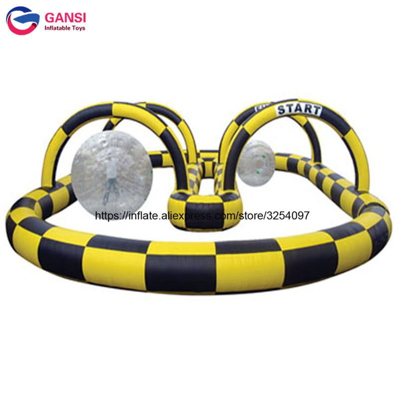 Portable outdoor kart racing trace inflatables,inflatable go karts race track,outdoor race track sea shipping inflatable car or bicycle go race track inflatable race track for sale